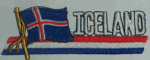 Iceland Embroidered Flag Patch, style 01.
